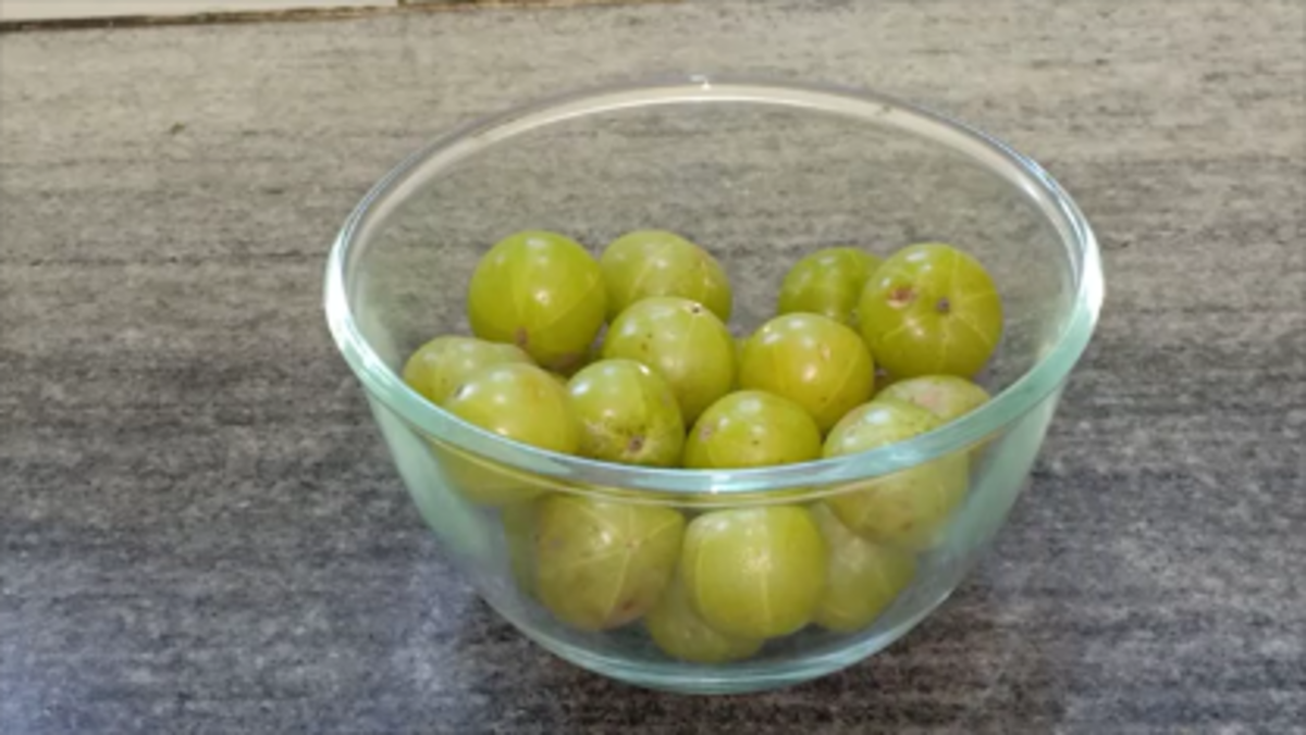 The is what the amla fruit looks like.