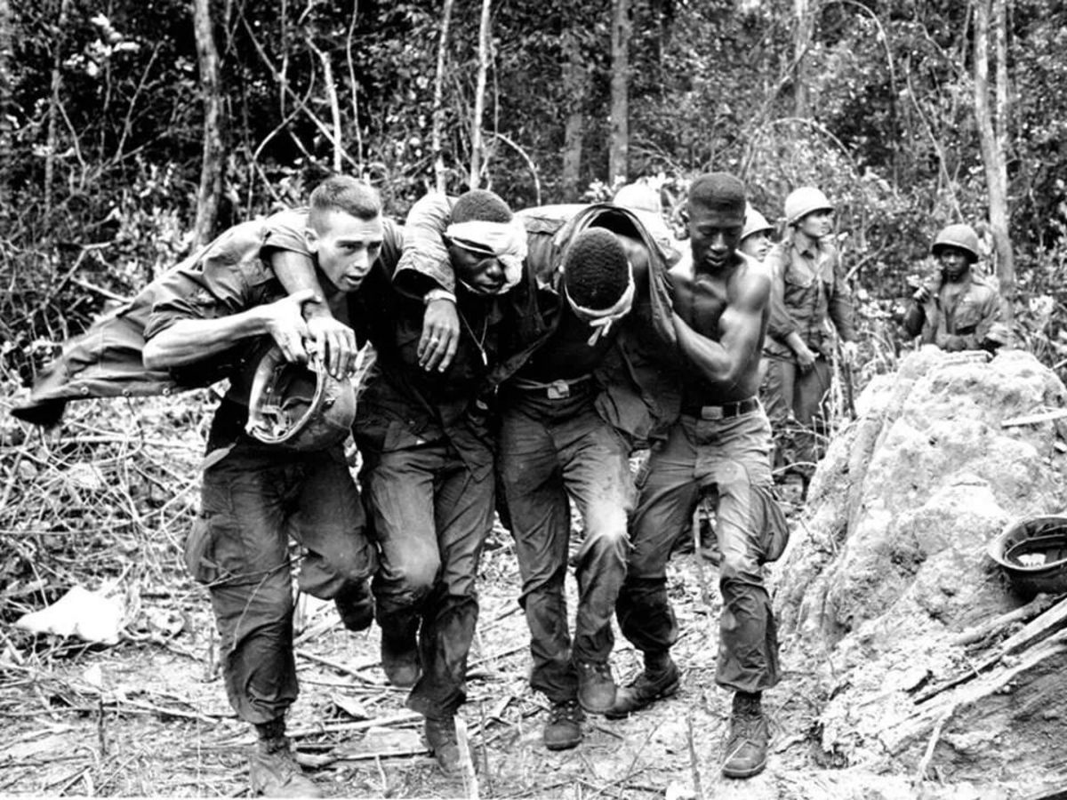 American soldiers during the Vietnam War.