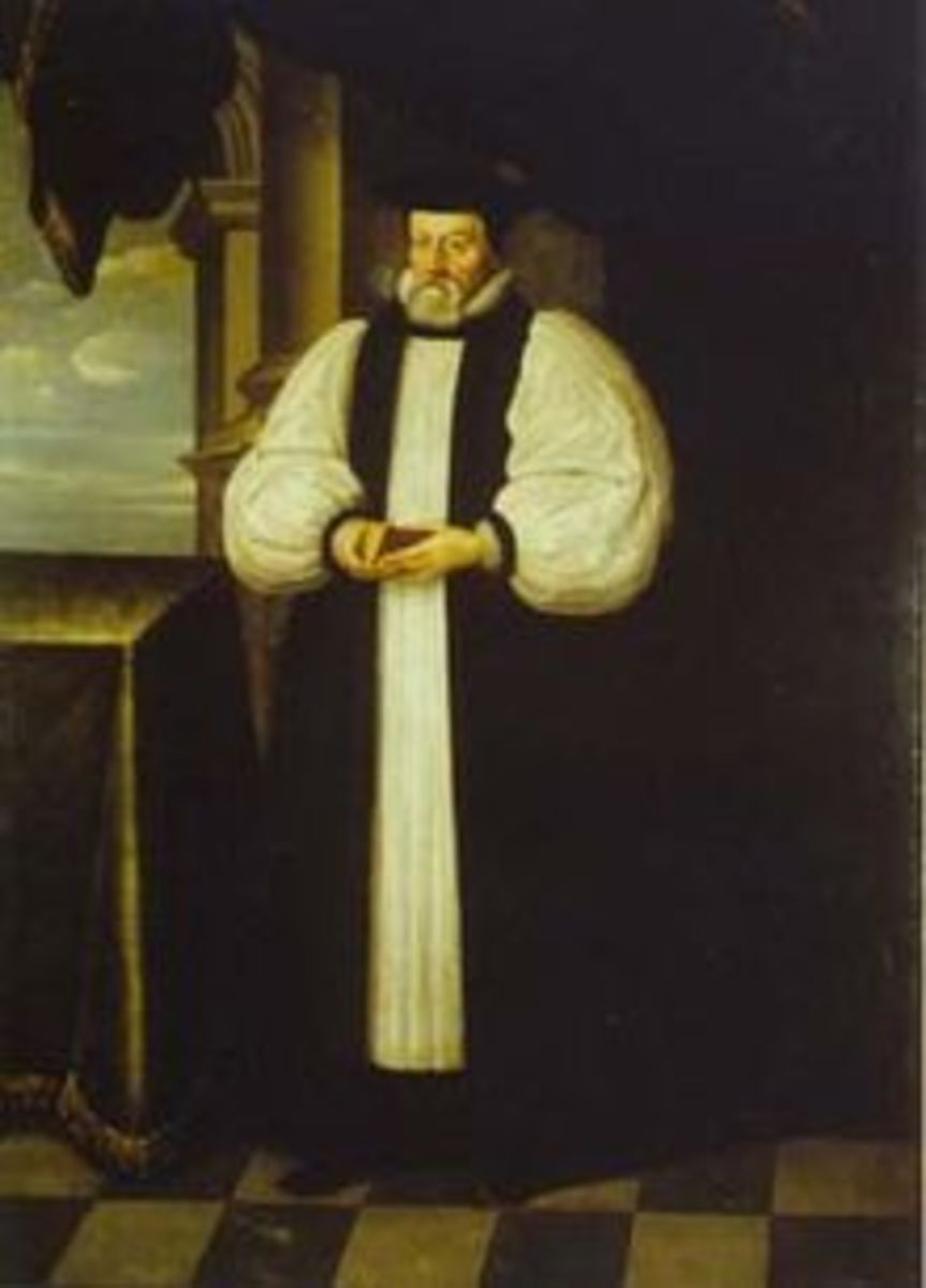 Bishop Thomas Morton by Simon Luttichuys