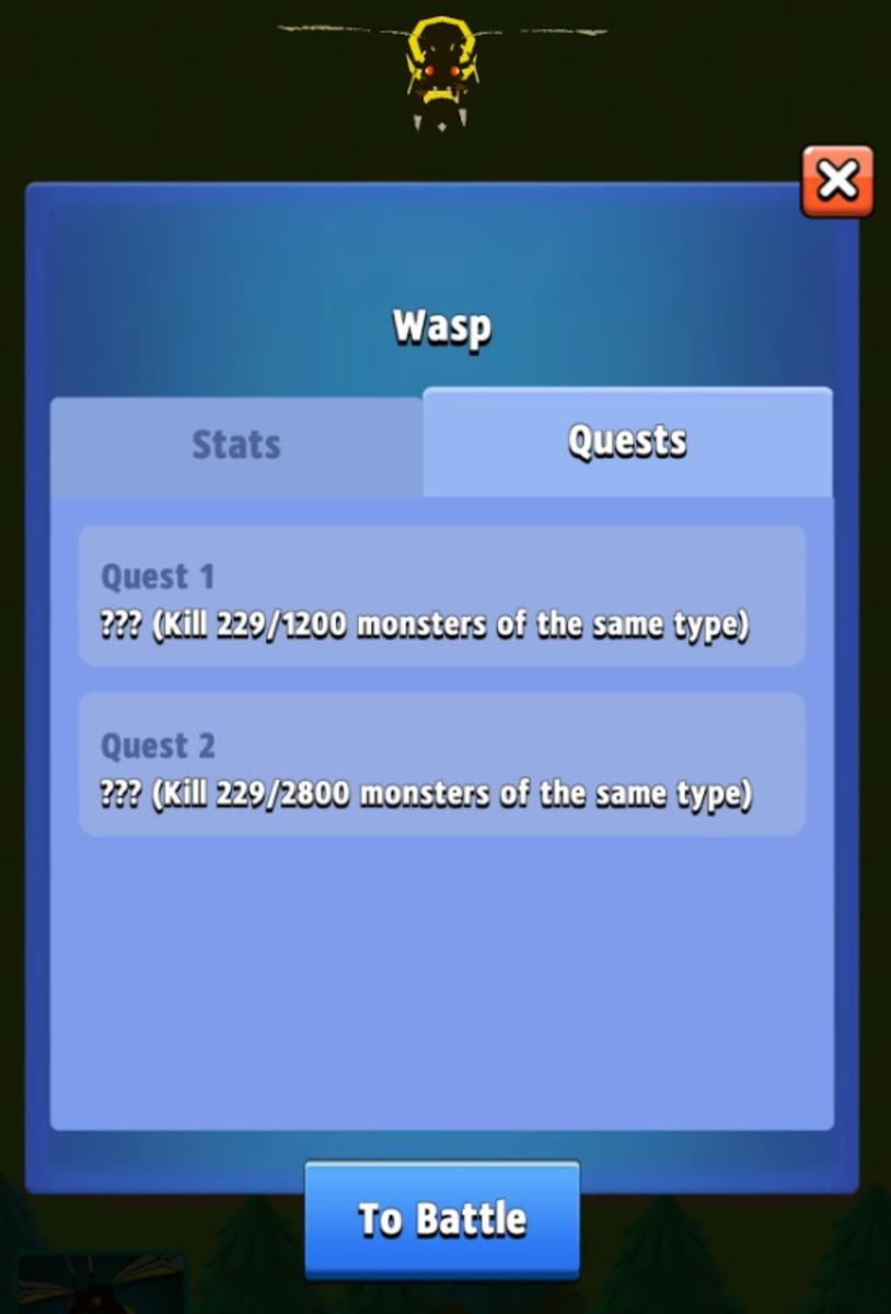 Wasp Quest Progress in the Farm