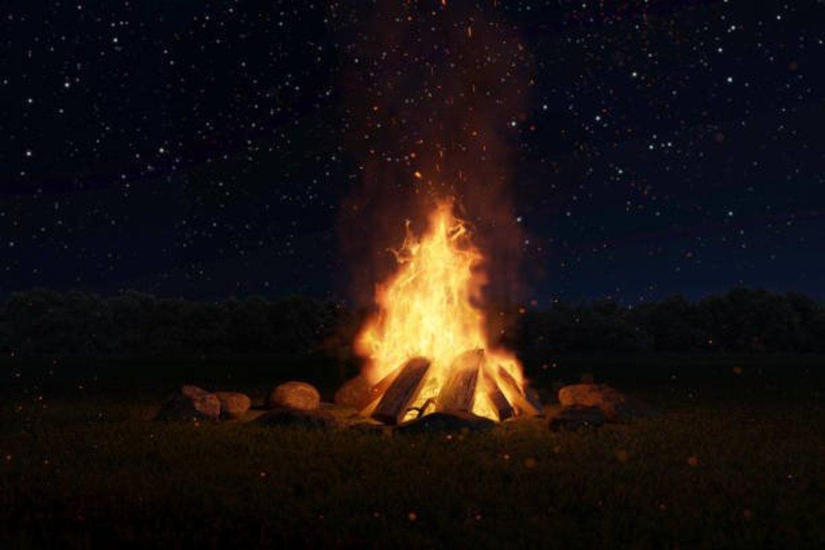 Fire is the best friend in winter