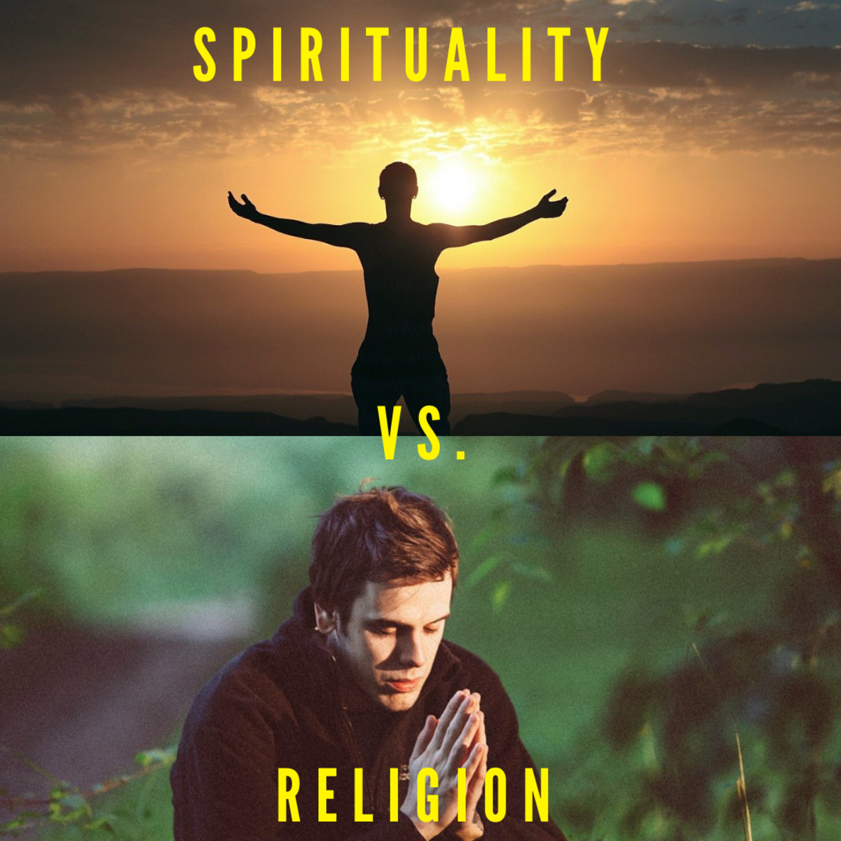 An ultimate guide to the difference between spirituality and religion.