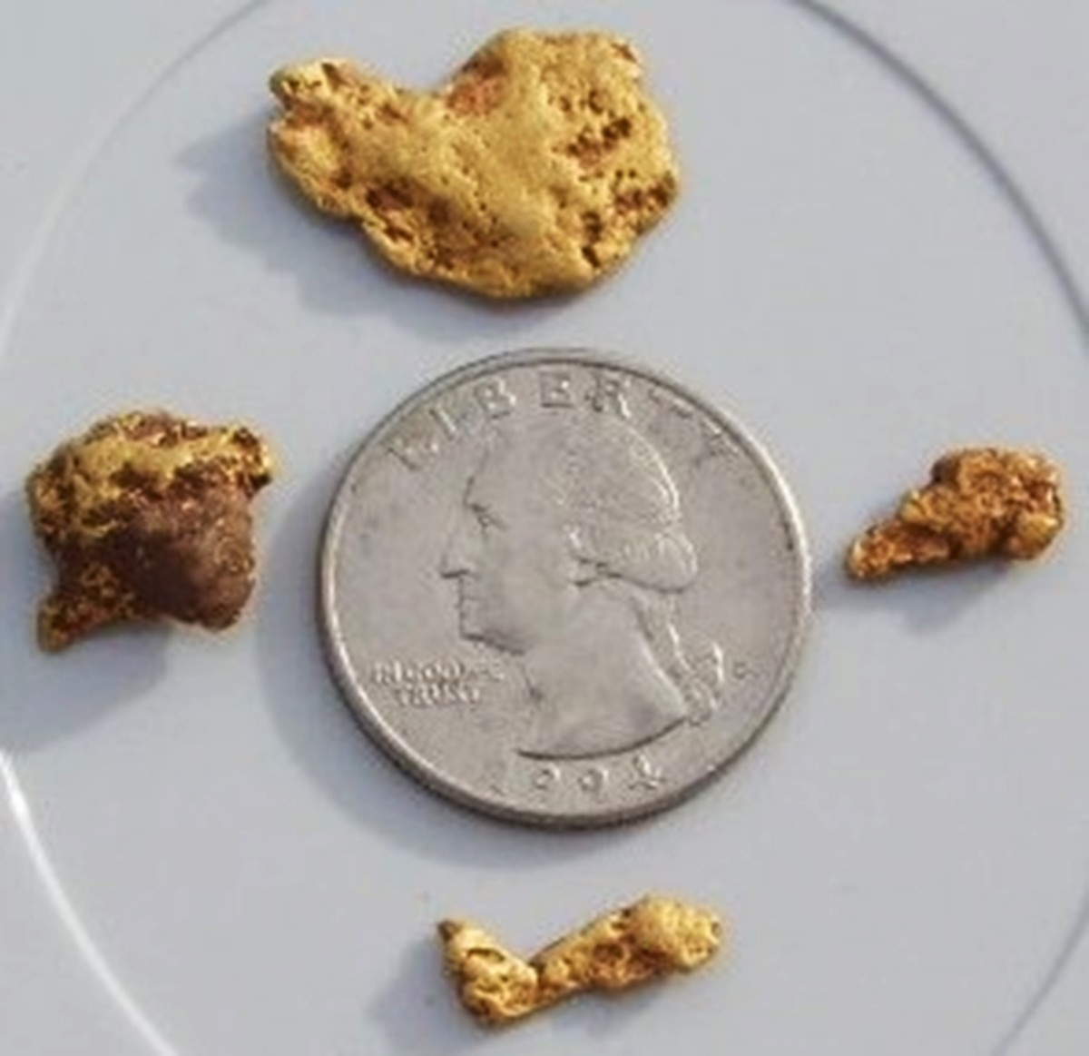 Medium to small gold nuggets