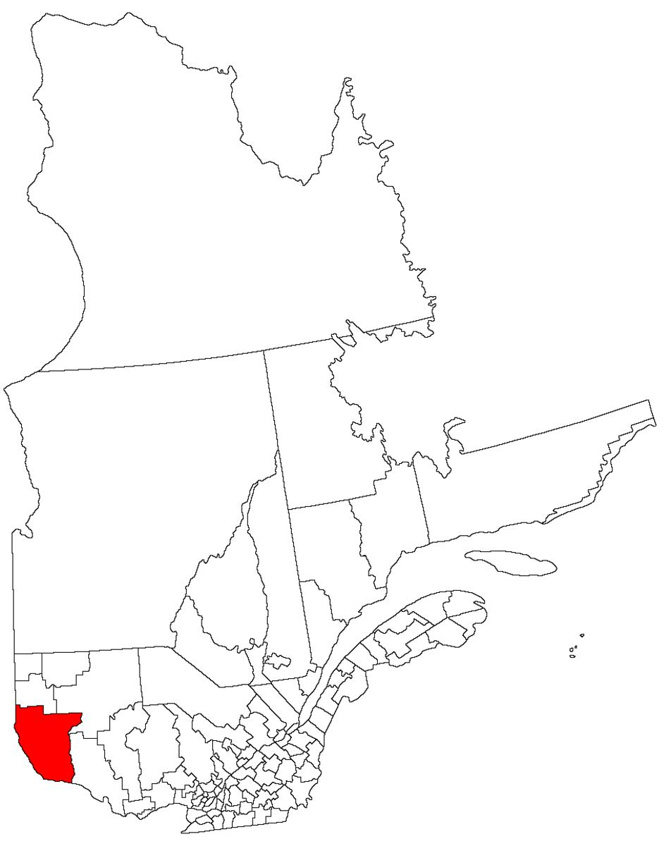 Map location of Temiscaming, Quebec