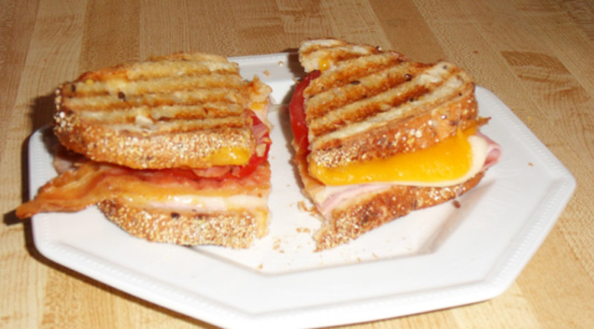 Ham, turkey, bacon, cheeses, tomato My photo