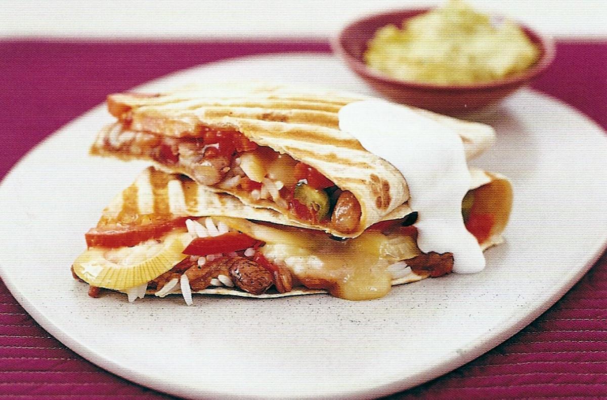 source paninirecipes Vegetarian Quesadilla