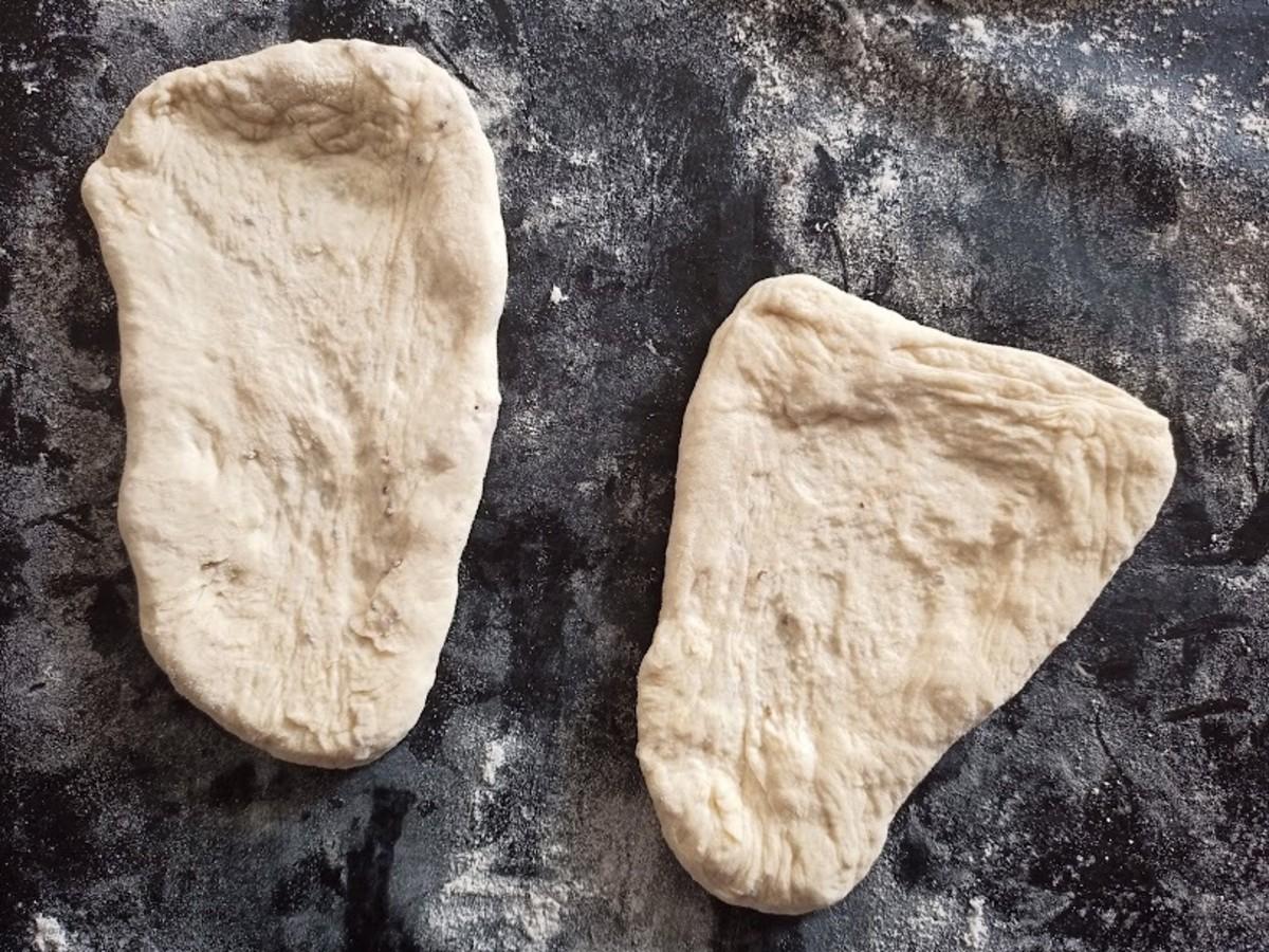 Sourdough naan dough