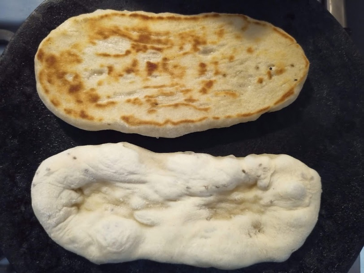 Step 6. Bake on a chapati pan until lightly toasted