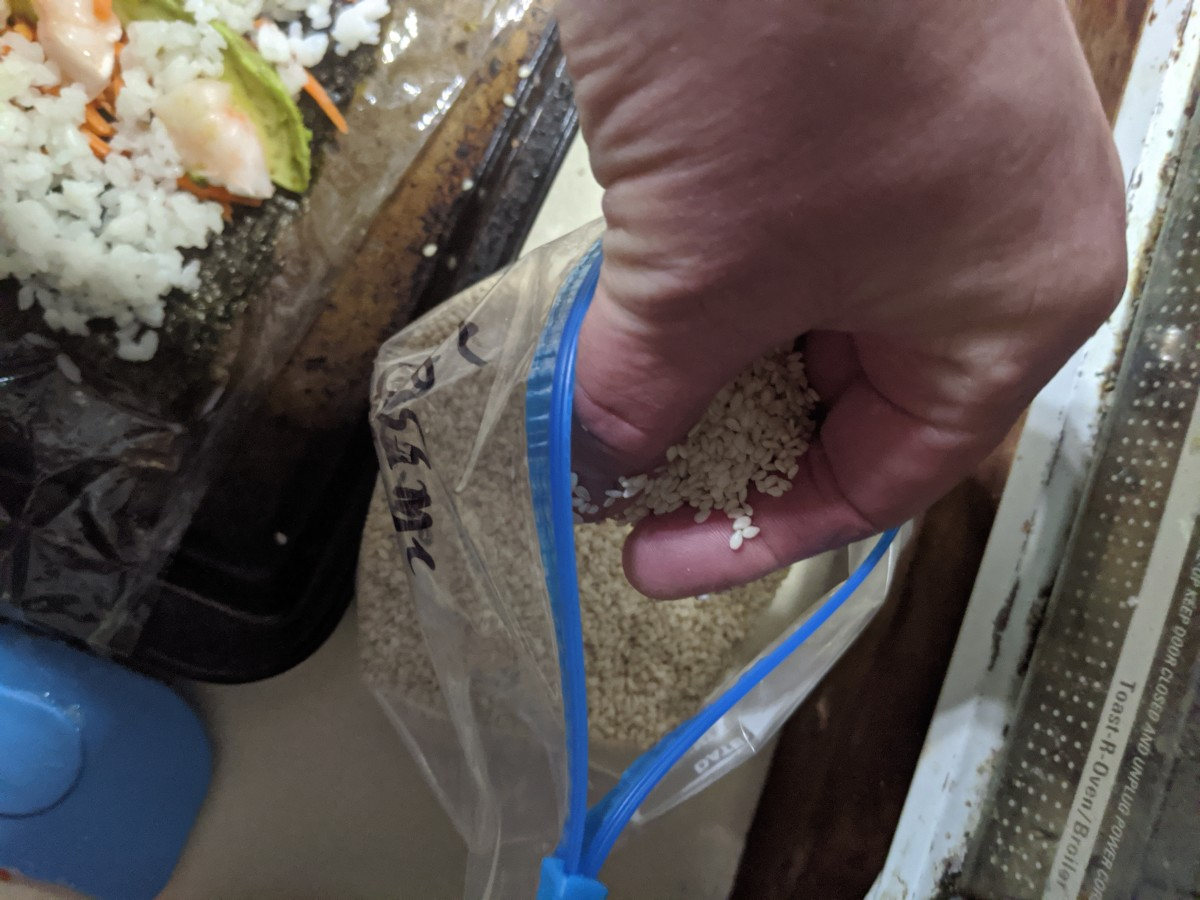 Sprinkle sense seeds across rice