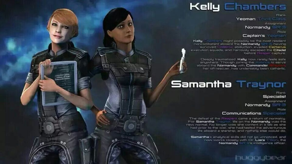 Kelly Chambers and Samantha Traynor in a wallpaper.