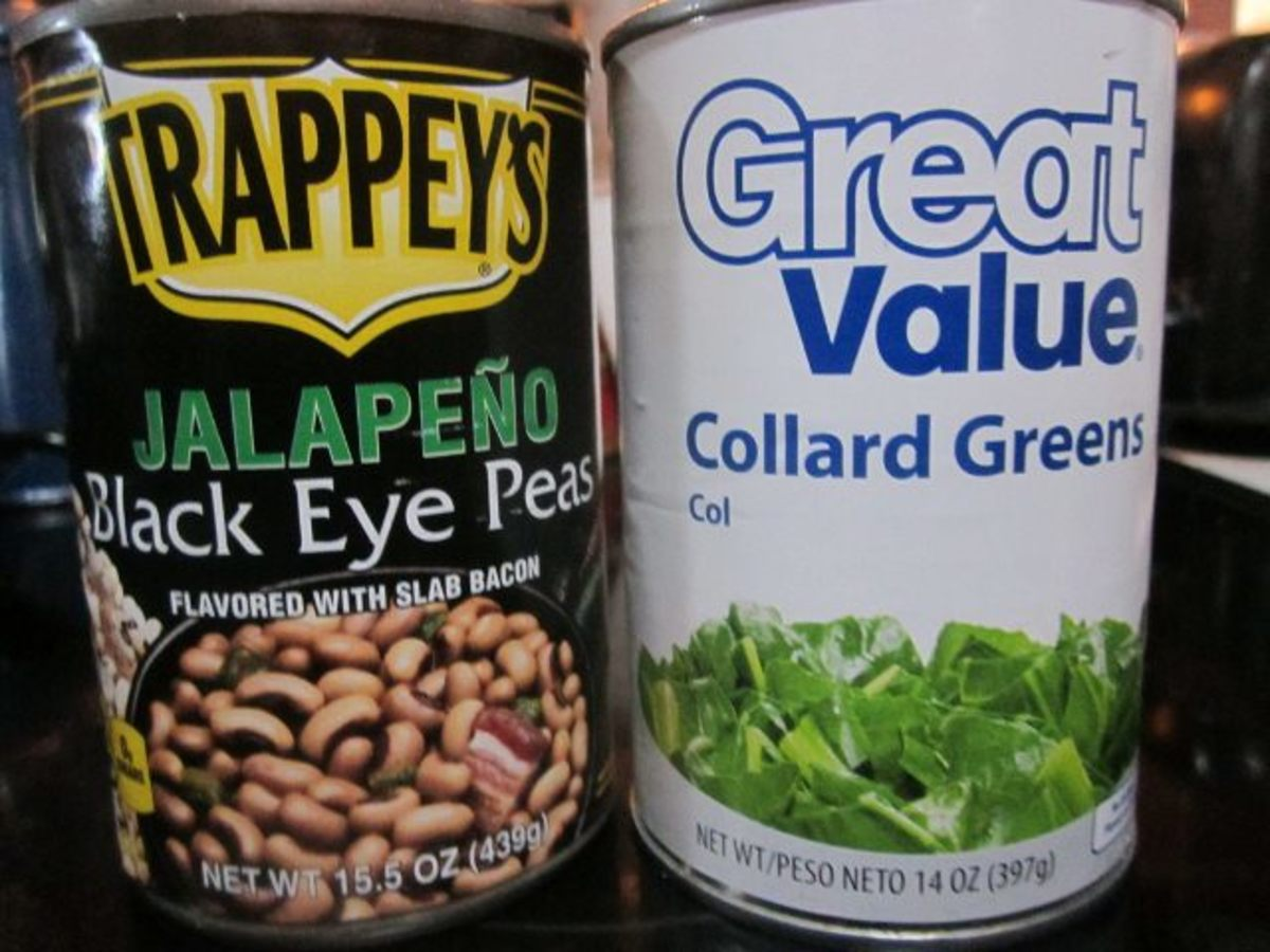 canned black eyed peas and collard greens