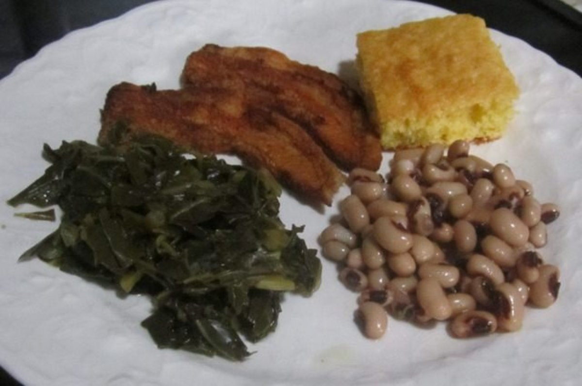 Traditional southern New Year's Day meal