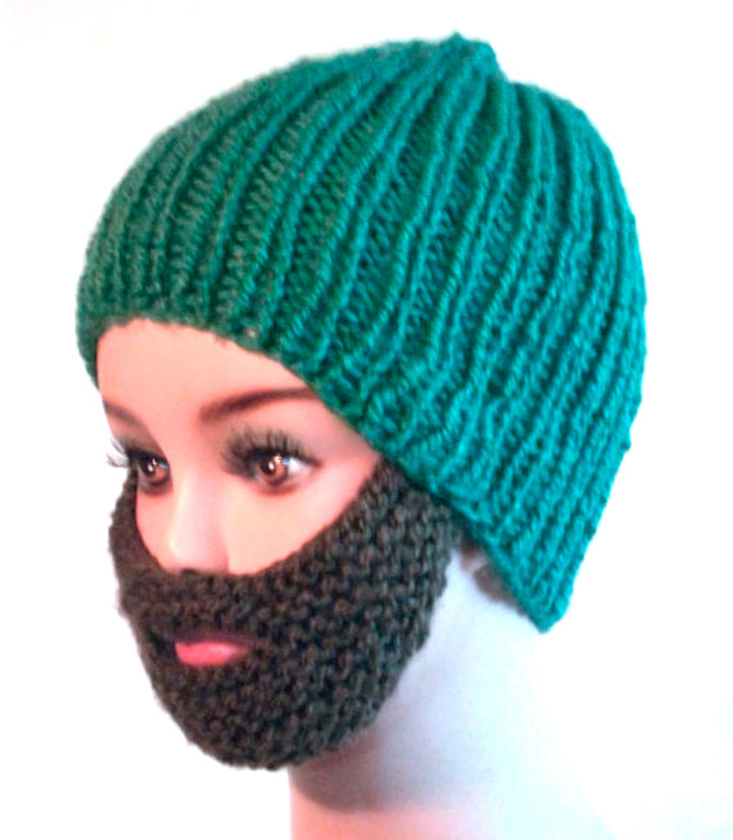 "Imagine wearing this down the street to start a new fashion trend! You'll be the biggest dolt around before you can say ""knitted beards just don't work""."