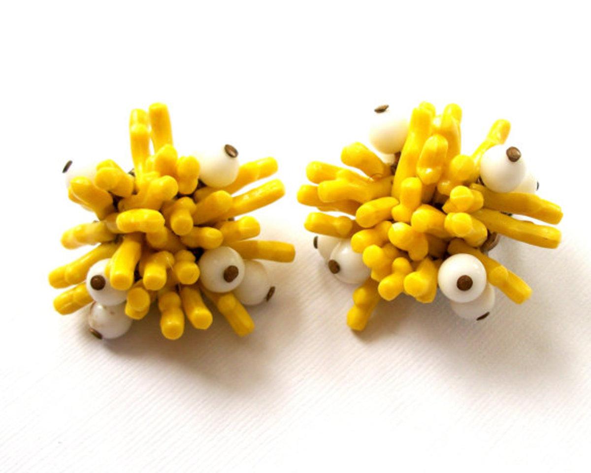 Fries With Eyes earrings.