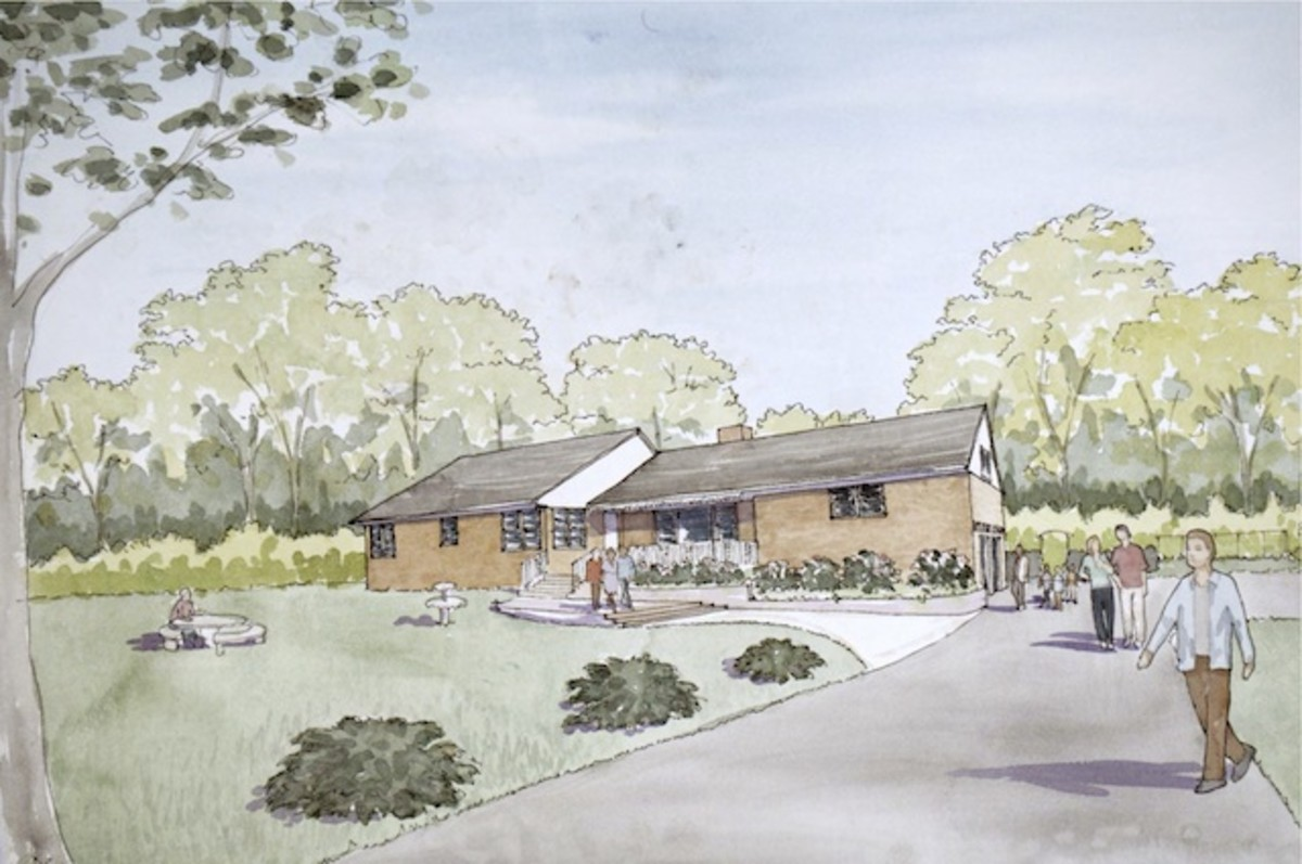 A drawing of the slated Coltrane Museum