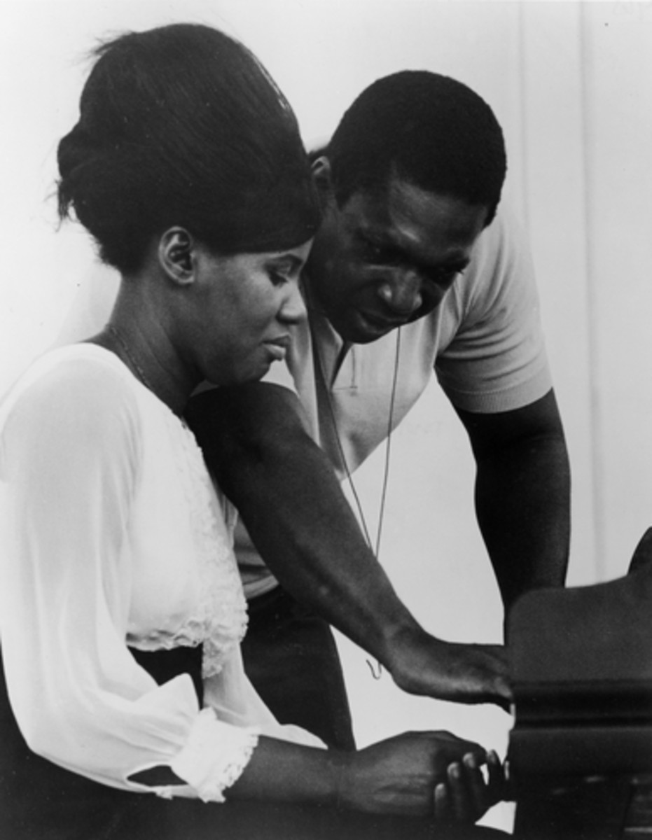 John and Alice Coltrane at the piano.