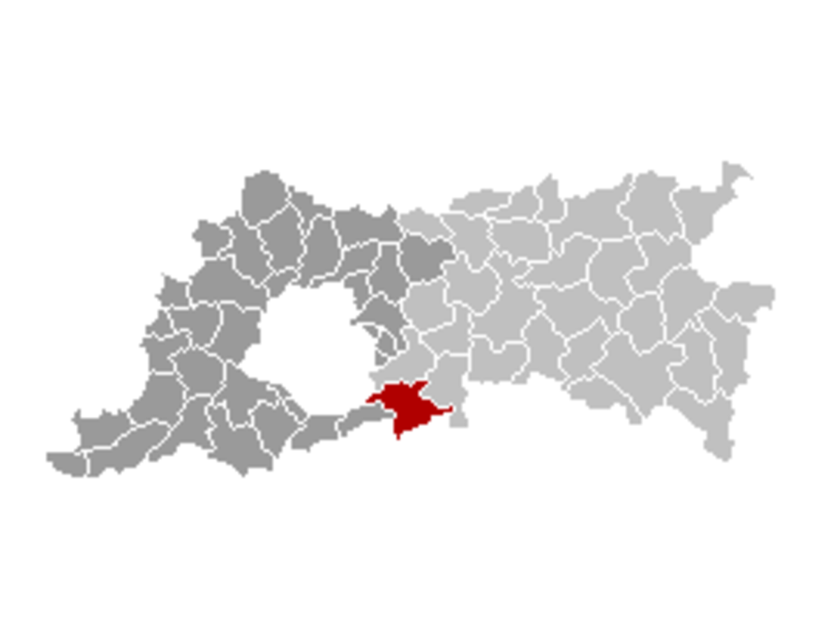Map location of Overijse municipality in Flemish Brabant