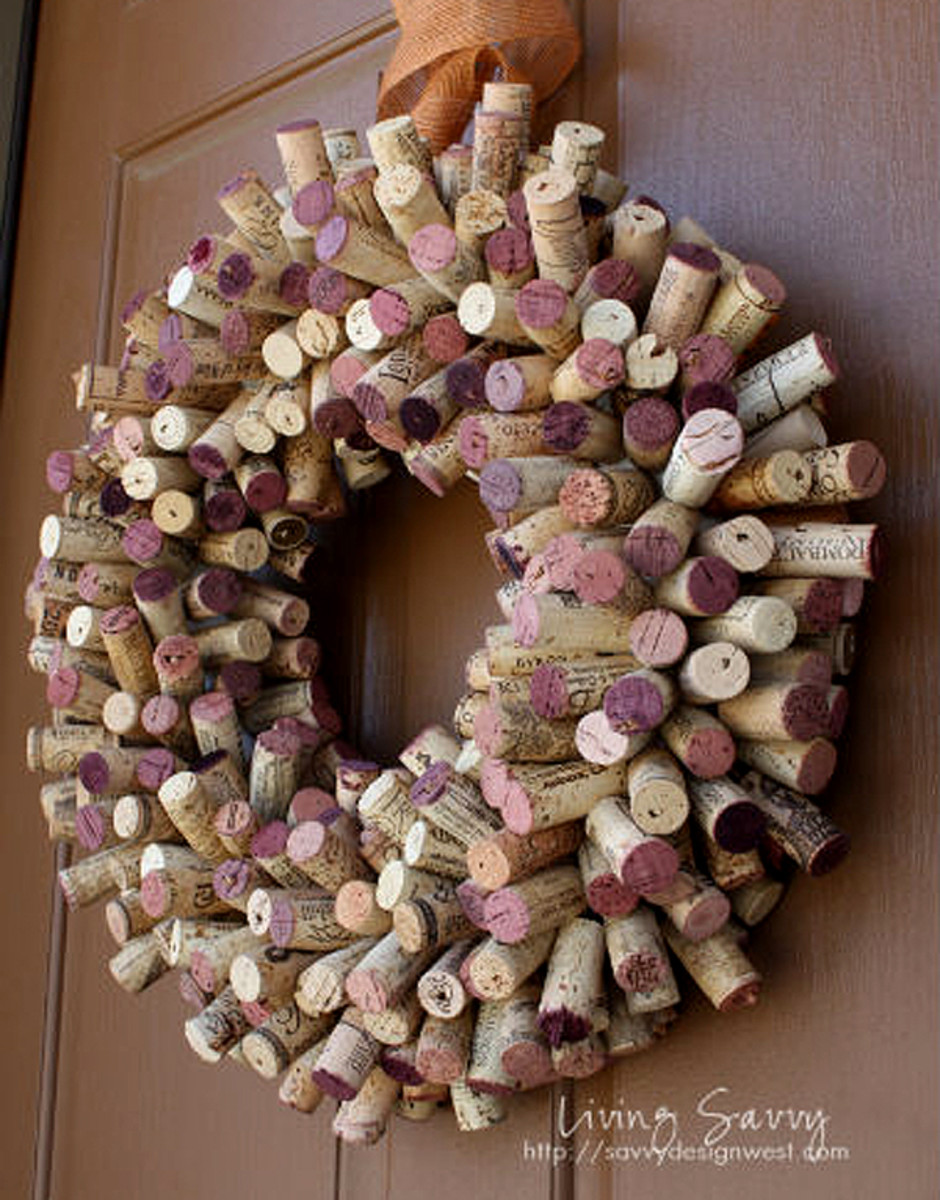 It's an amazing for the wreath wine corks!