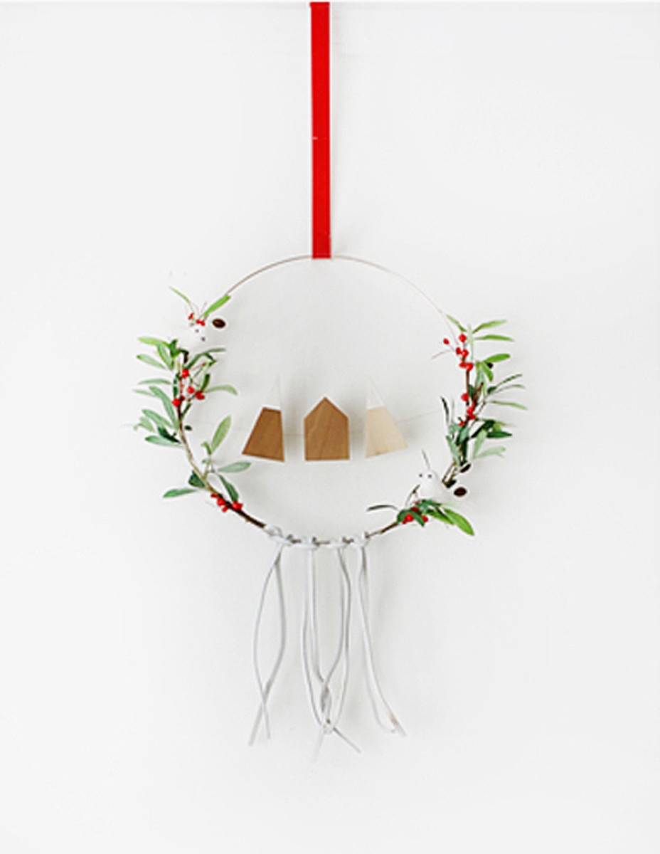 This is a Scandinavian inspired the Saint a wreath.