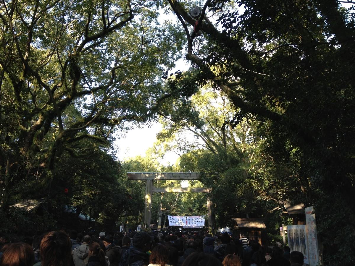 Hatsumode crowds at Atsuta Shrine