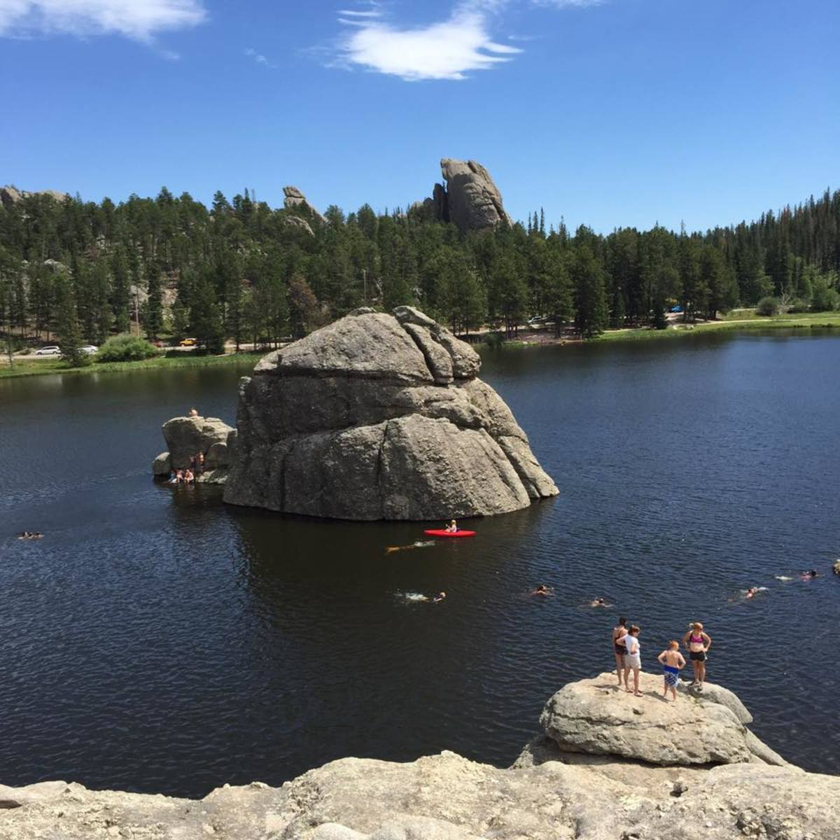Swimming and Canoeing at Sylvan Lake