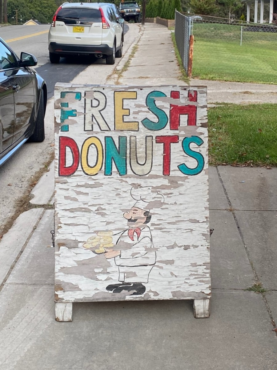 Sign outside of Better Maid Donuts