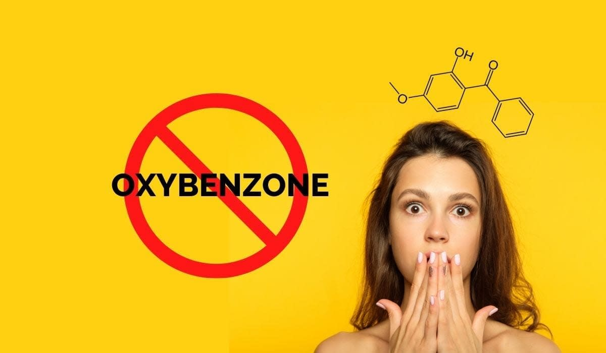 Oxybenzone, a harmful chemical used in sunscreens