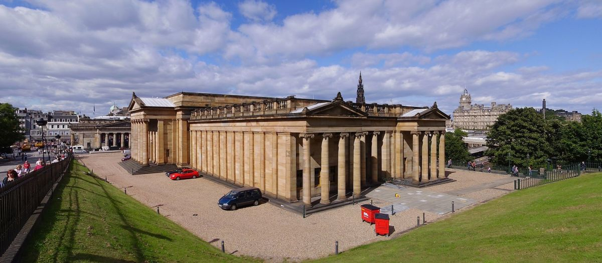 The National Gallery of Scotland Edinburgh - the Athens of the North