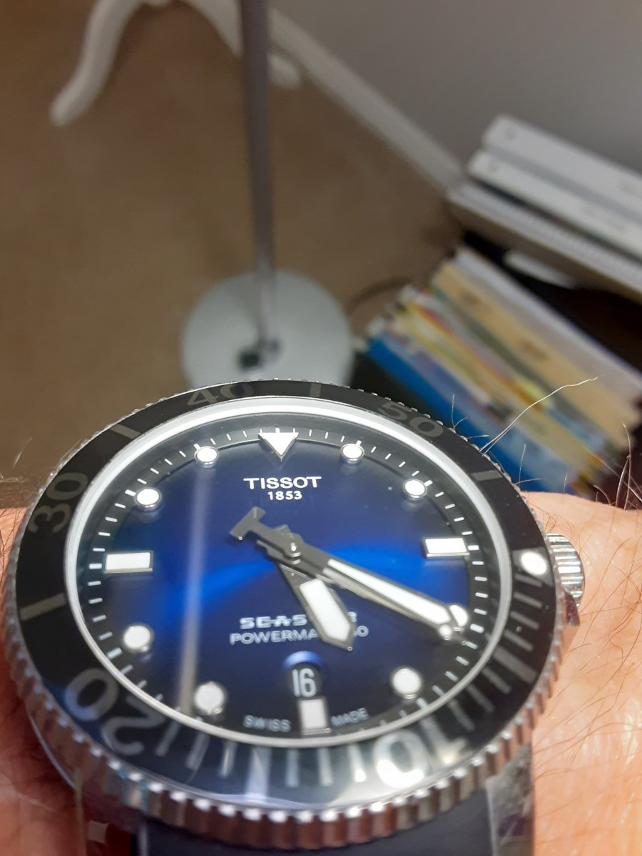 My current Seastar automatic, which is now 3 years old. It's been highly abused yet has no visible scratches.