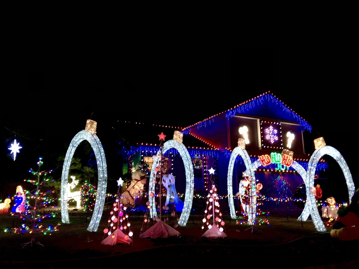 This house in the western suburbs features a tunnel of lights.