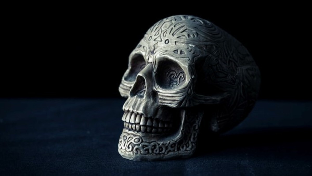 A skull symbolizes communication. Within an occult rite of any kind, one, therefore, amplifies communication energies.
