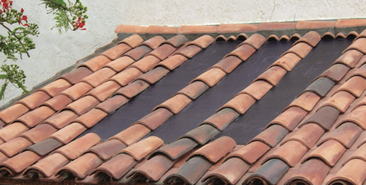 Incorporating solar technology into barrel tile roofs.