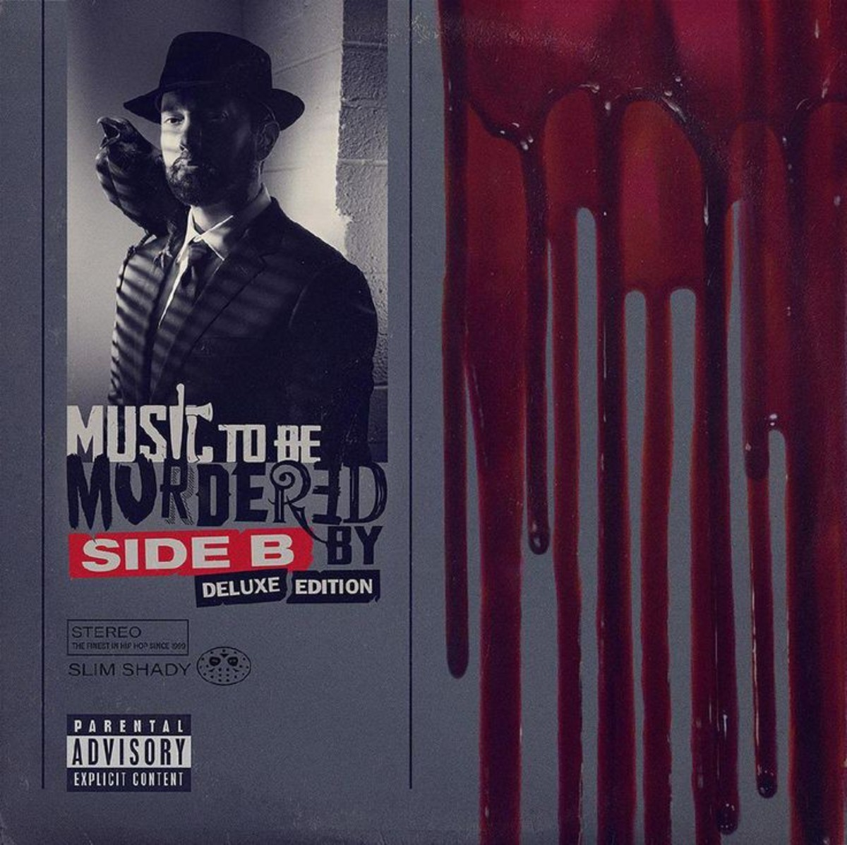 """""""Music To Be Murdered By Deluxe Edition"""" album cover"""