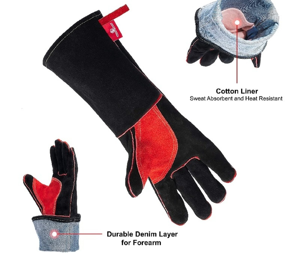 HearToGear welding gloves are fireproof and heat resistant. They protect your hands and forearms from fire burns.