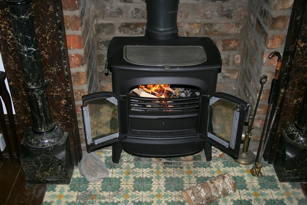 A wood-burning stove is the center piece in your living room or kitchen.