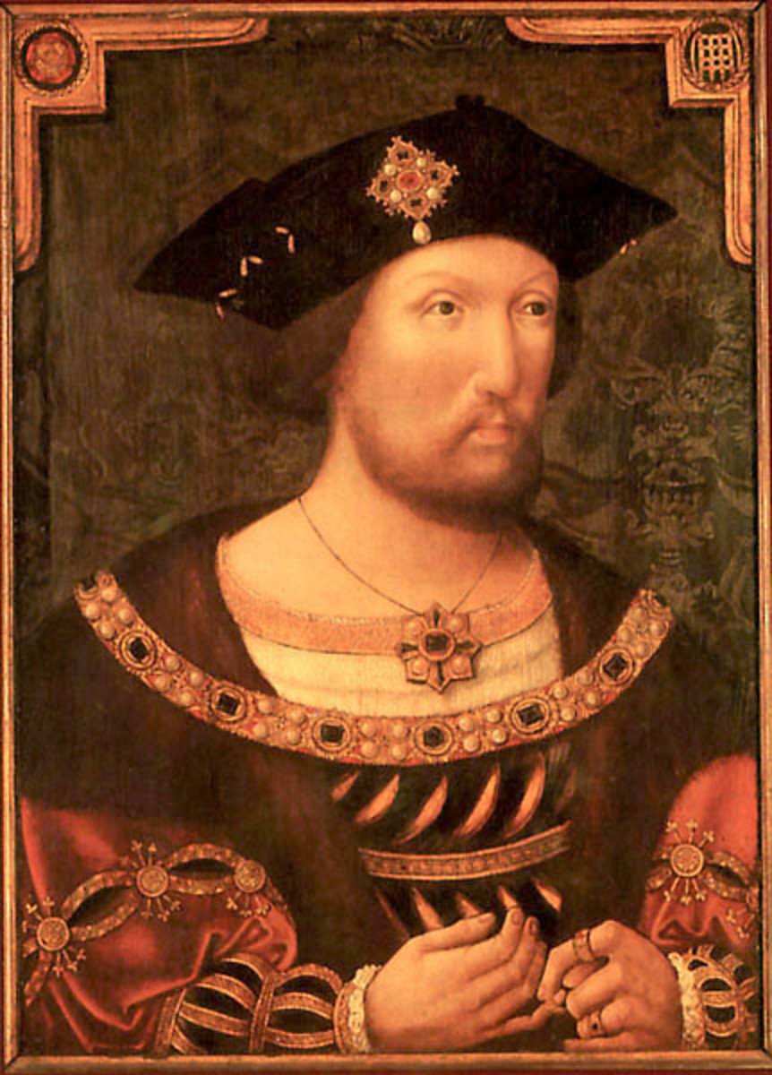 King Henry VIII, Katherine's second husband. This portrait was painted in the 1520s.