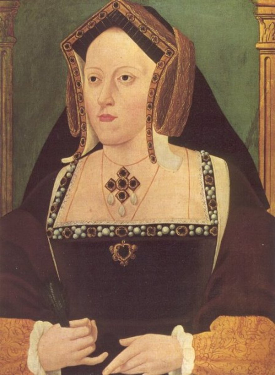 The most recognisable portrait of Katherine of Aragon. It was painted in her later years by an unknown artist.