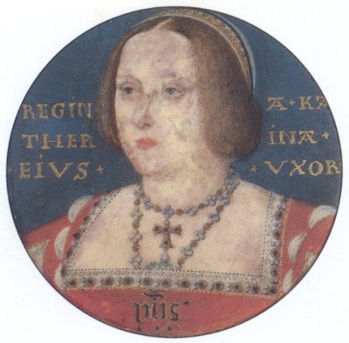 A miniature of Katherine of Aragon in her later years.