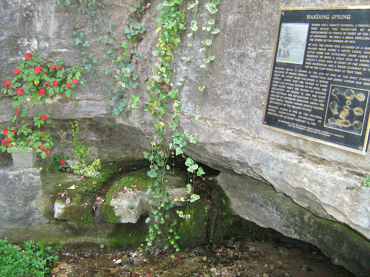Harding Spring in Eureka Springs, Arkansas. Originally claimed to cure blindness.