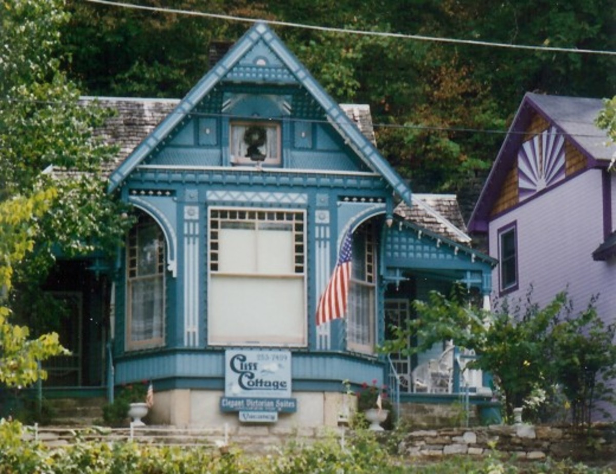 One of many Victorian houses in Eureka Springs, Arkansas