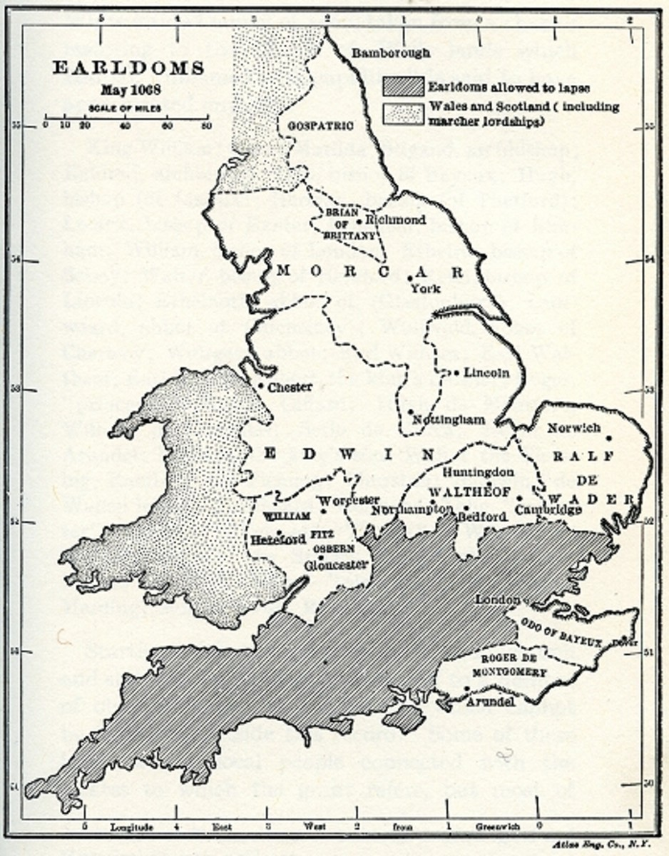 Following the Conquest, the earldoms of England have changed. Northumbria is no exception