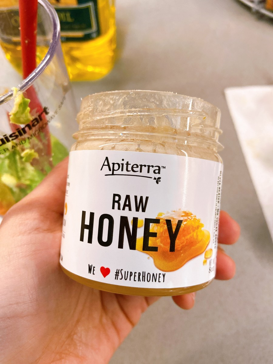 I used raw honey because it works for me!