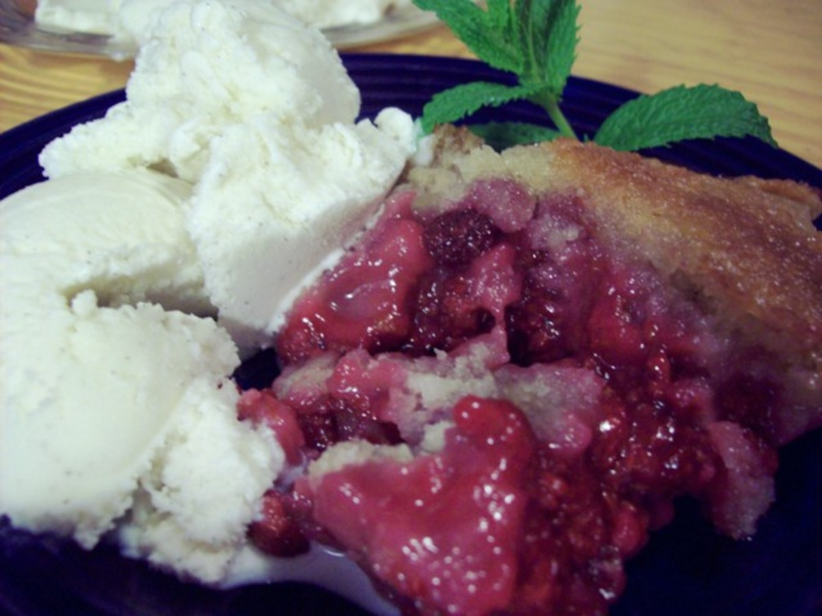 Enjoy your cobbler with ice cream, whipped cream or frozen yogurt.