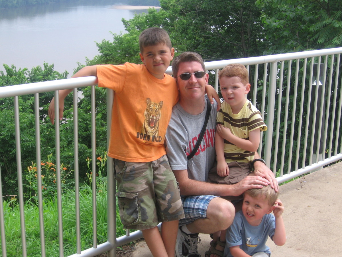 My brother, Tom Beaumont, with his sons:  Sam, Henry, and Will.