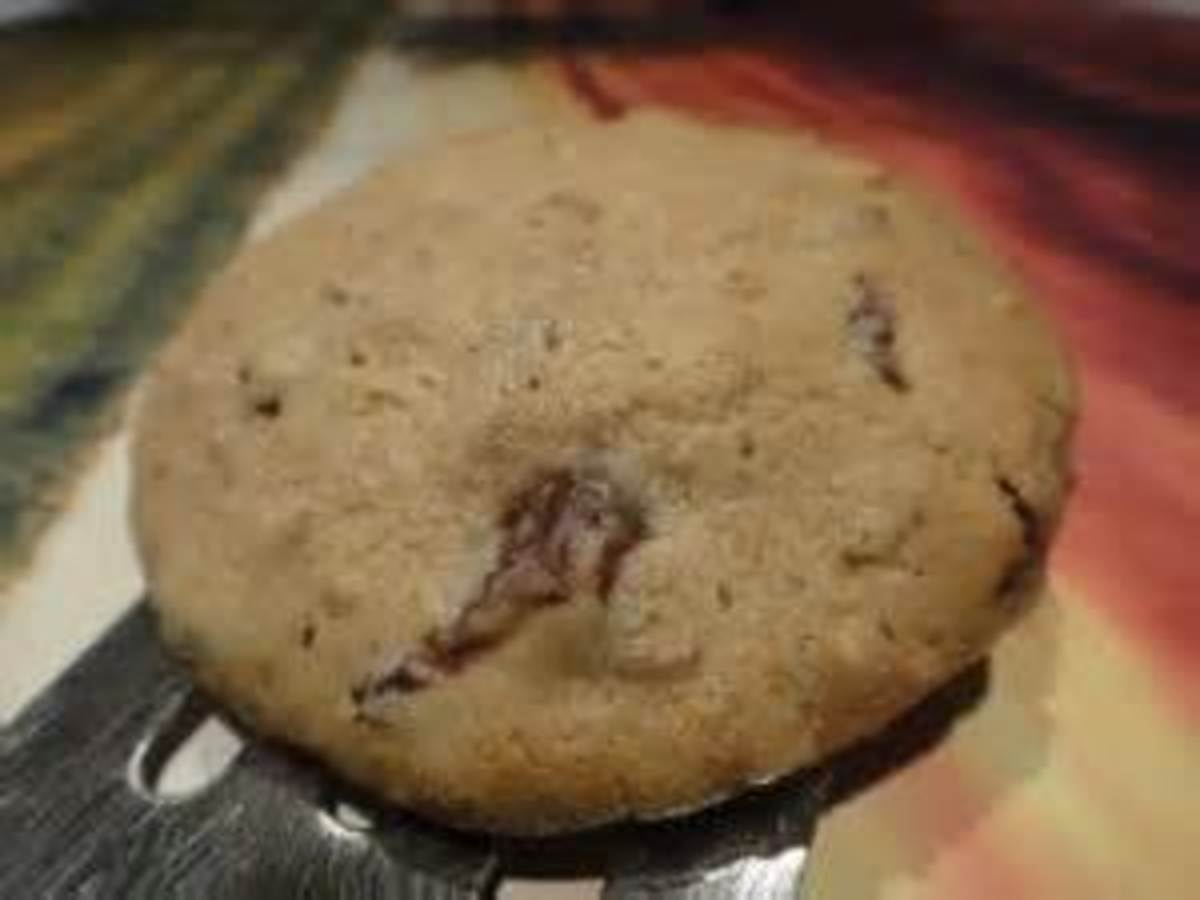 Removing cookie with spatula