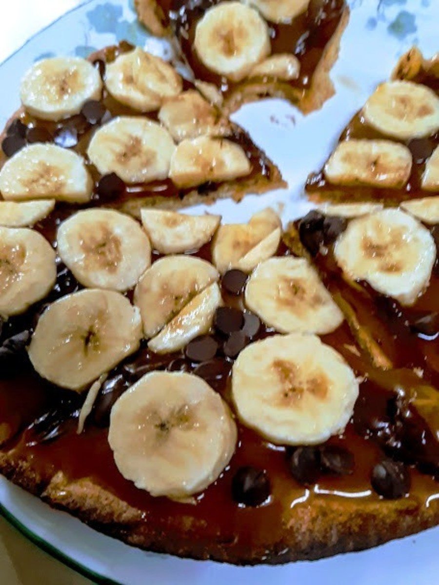 This coconut-caramel pizza is a sweet way to celebrate with someone you care about!