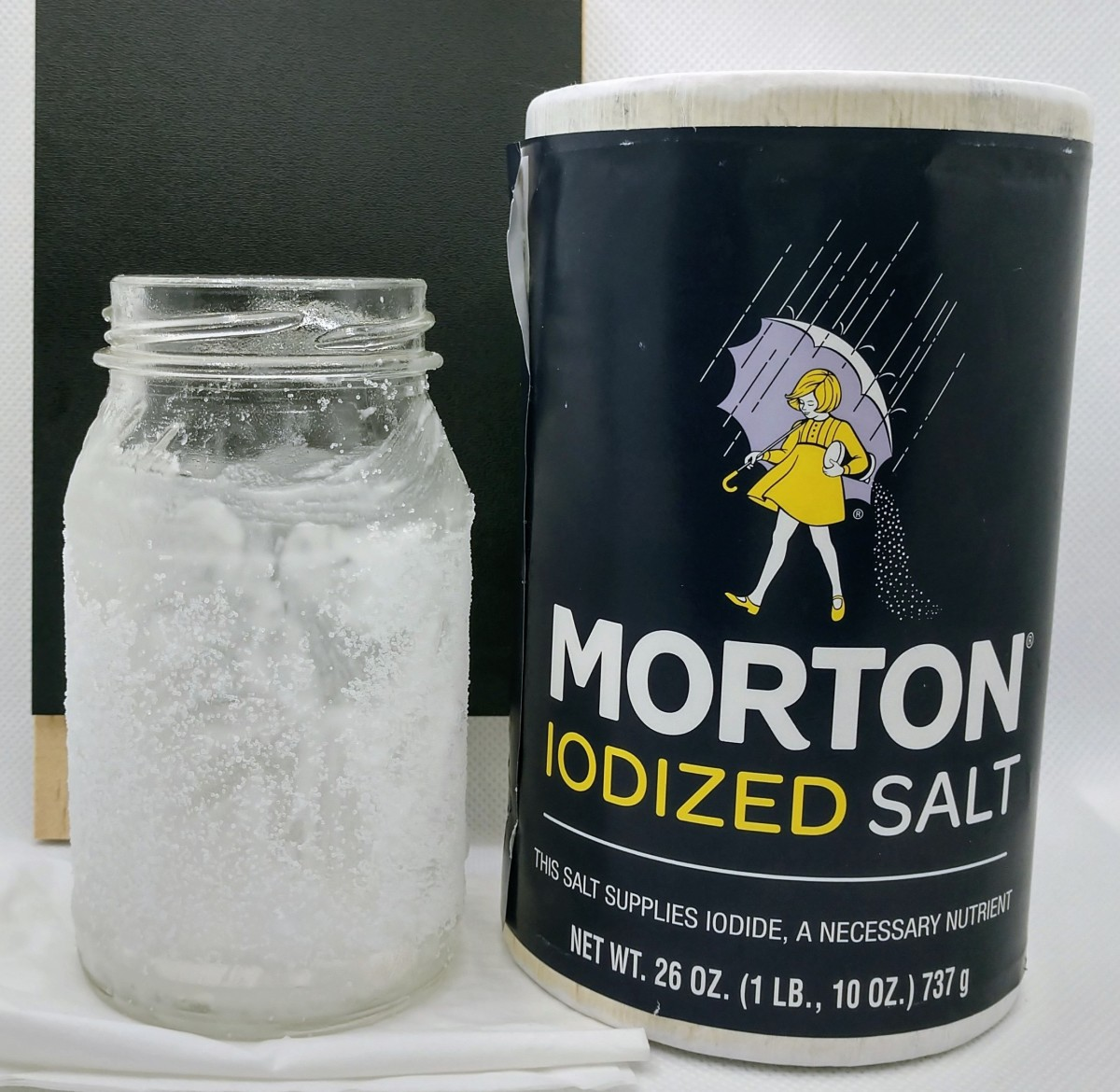 Add table salt for extra abrasion