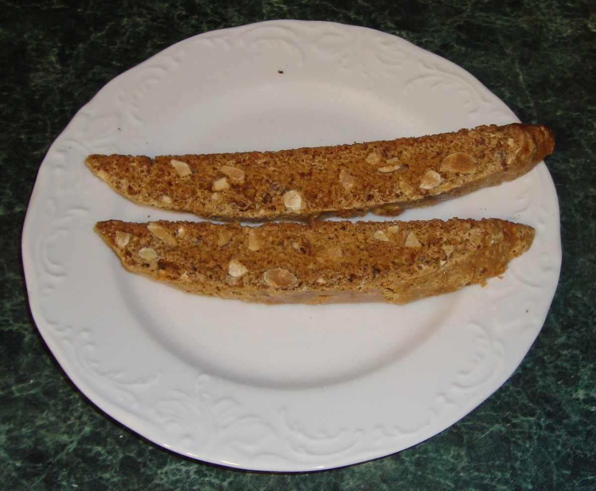 The finished product.These biscotti are about 5 1/2 inches long.