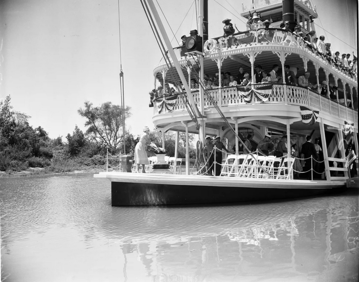 The Mark Twain Riverboat when it wasn't sinking.