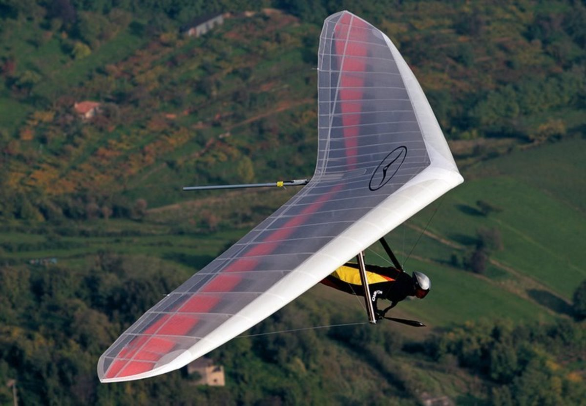 Hang gliding is a way to see the beauty of the landscape with the freedom to control your path.